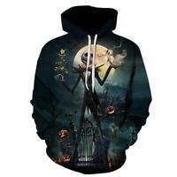 The Nightmare Before Christmas Jack Skellington 3D Hoodie Sweater Sweatshirt 88-