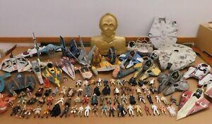 Huge Lot Star Wars Toys Kenner/Hasbro 1997-Now 70 Figures, 27 Vehicles/Creatures