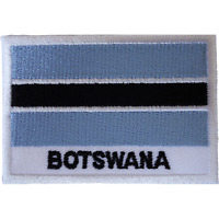 Botswana Flag Iron On Patch Sew On Clothes Bag South Africa Embroidered Badge