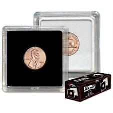 """BCW 1 Box of 25 Holders 2"""" x 2"""" Coin Snap - Penny (#798)"""