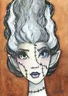 "ACEO Original Fantasy Sketch FoGG art card 2.5 x 3.5 Drawloween ""Bride"""
