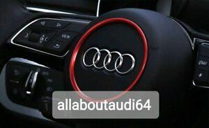 Audi Red Steering Wheel Ring Sticker For TT Mk2 / 8J