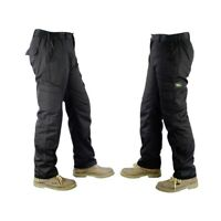 Mens Lightweight Elasticated Waist Cargo Trousers Combat Work Pants Bottoms New