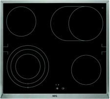 AEG HE604070XB Glaskeramik-Kochfeld herdgebunden 60cm Edelstahlrahmen