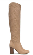 NEW! Circus by Sam Edelman Sibley Knee High Heel Faux Suede Dress Boots Beige 6M