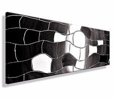 HANDGEMALT Leinwand Bild ORIGINAL Abstrakt modern XXL Bilder Acryl  Schwarz