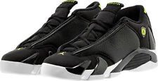 2016 Nike Air Jordan 14 Retro indiglo Og Gs SZ 7Y Black Vivid Green 487524-005