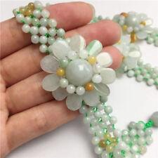 Certified 100% Natural A Sun flower jadeite jade Bracelets 太阳花手链
