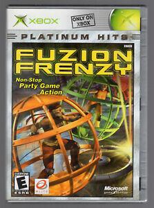 FUZION FRENZY Platinum Hits Original Xbox Complete w/ Manual Game Disc Case CIB
