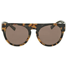 Versace Rectangular Havana Sunglasses