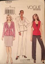 VOGUE PATTERNS Sewing Pattern V9066 Vest, Jacket, Pants, Skirt Size E5 14-22 UC