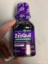 Vicks ZzzQuil Nighttime Sleep-Aid Liquid, Warming Berry, 6 fl oz NEW SEALED