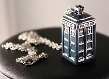 Alloy Doctor Who TARDIS Pendant Necklace/Chain w/Free Jewelry Box and Shipping