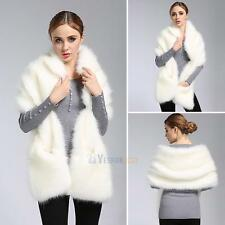 Hot sale Winter warm Women Rabbit Fur Coat Fox Fur Shawl Stole Wrap Shrug Jacket