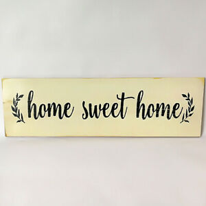"""Personalised Wooden Letters """"Home Sweet Home"""" Family Plaque House Sign Gift"""