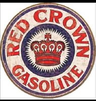 """REDC-2 12/"""" RED CROWN GAS PUMP OIL TANK DECAL"""