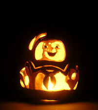 "30th Anniversary GHOSTBUSTERS Stay Puft (Hand-Carved Foam Pumpkin 12"")"