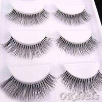 Makeup Cross Thick Natural False  Eyelashes Black Eye Lashes Extension Handmade