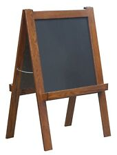 Heirloom Oak Double Sided Folding Chalk and White Board Children's Easel
