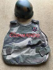 NEXT ARMY COMBAT COMMANDO TABARD & HELMET DRESSING UP FANCY DRESS COSTUME 7-8