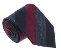 Missoni U5120 Navy/Wine Awning 100% Silk Tie