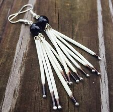 Onyx Porcupine Quill Earrings