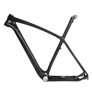 """29er 21"""" Carbon MTB Frame Seatpost BB30 3k Glossy Mountain Bike ISP Internal"""