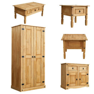 Corona Solid Pine Mexican Living Room Waxed Furniture Wardrobe Sideboard Table