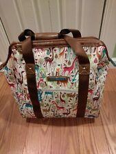 Lily Bloom Giraffe Weekender/Overnighter Bag W/ Wheels