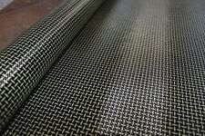 NEW Carbon fiber Kevlar Aramid Hybrid Cloth Fabric Plain Weave 30x20cm 180g/m²