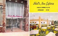 Postcard Sholl's New Cafeteria 1433 K Street NW in Washington D.C.~110606