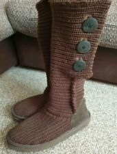 UGGS BROWN Knitted CARDY UGG Australia BOOTS UK7.5 EUR40 £135