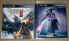 PS3 Game Lot - A Realm Reborn Final Fantasy XIV (New) Dungeon Siege III (New)