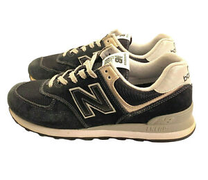 Men's New Balance Classic 574 Encap Black Suede Running Shoes Sneakers Size 9