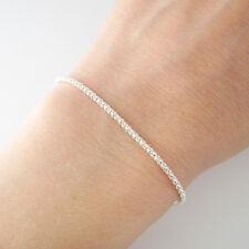 Bracelet fin maille fantaisie argent sterling 925/1000e BR87