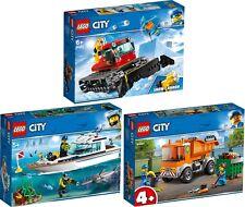 LEGO® City 60222 60221 60220 Pistenraupe Tauchyacht Müllabfuhr VORVERKAUF