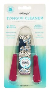 Stainless Steel Tongue Cleaner With Travel Pouch