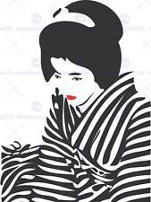 DT Japón Geisha Lápiz Labial Zebra 30x40 BMP11722 CMS cartel impresión de arte