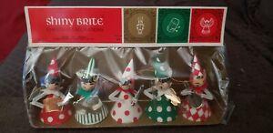 NOS: VINTAGE SHINY BRITE JAPAN BAND MEMBERS: PAPER/CARDBOARD CHRISTMAS ORNAMENT