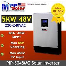 USA stock. PIP5048MG 5000W 48V 230VAC 450VDC Solar Inverter MPPT 80A Batteryless