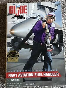 "GI Joe Classic Collection Navy Aviation Fuel Handler 12"" 1/6 Sealed MIB"