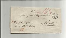 Di Prussia V./erano villaggio fingerh. - k1 (f5 circa 1834) su gabinetto-tax. - Lettera n. Hal