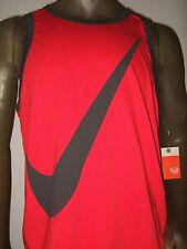 Nwt Men's XXL Red Nike Swoosh Athletic Sport Symbol Logo Graphic Tank Top Shirt