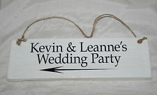 Personalised Words Wedding Day Reception Party Sign Plaque Shabby Chic Table Top