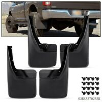 For 09-18 Dodge Ram 1500 2500 3500 Front & Rear Splash Guards Mud Flaps