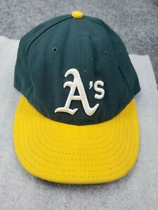 New Era 7 1/8 Oakland A's Fitted Hat Baseball Cap Sports Green MLB