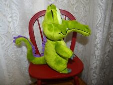 Disney Plush Toy Alligator Where's My Water Swampy Green with Purple Backfin