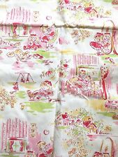 Vintage Fabric Children's Girls Sisters 80s 90s Happy Childhood Playground