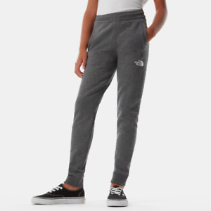 The North Face Youth Fleece Pants Kids Cotton Fleece Joggers Bottoms Black Grey