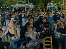 Auguste Renoir Dance at Le Moulin de la Galette Giclee Canvas Print Paintings Po